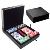 Set Cartas Dados Chips Estuche Poker